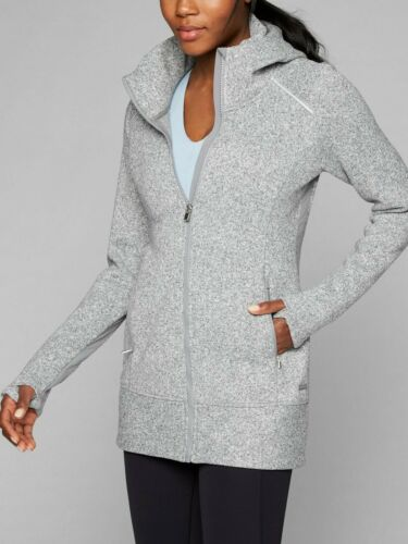 Athleta 873768 CYA Stronger Fleece Jacket, Light Grey Heather size S