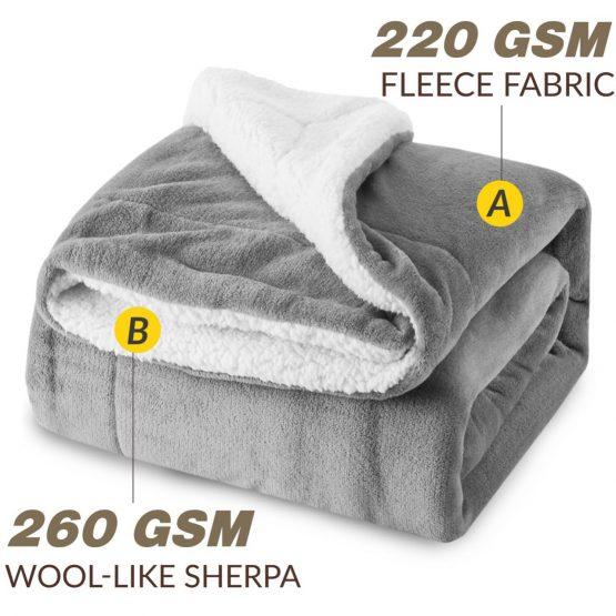Chăn 2 Lớp Lông Cừu hàng xuất Tây Ban Nha – 2m1 x 1m9