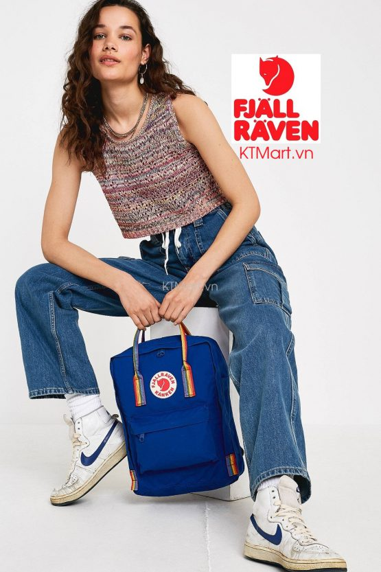 Fjallraven Kanken Rainbow Backpack Deep Blue Rainbow Pattern Fjallraven