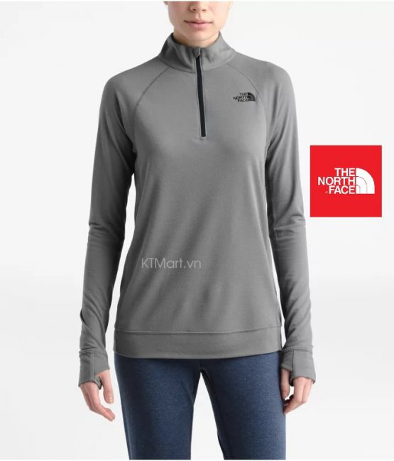 The North Face Women's Warm Wool Blend Long-Sleeve Zip Neck NF0A3M5F The North Face size M