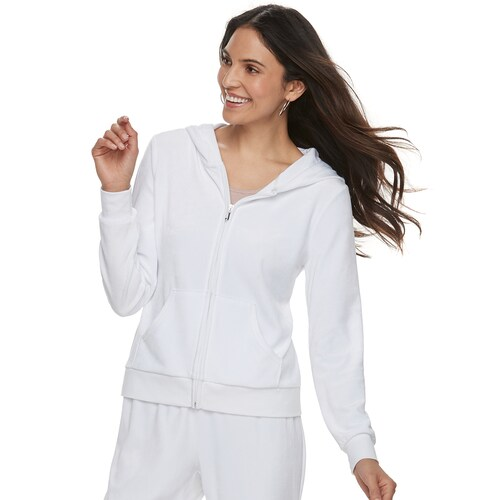 Women's Juicy Couture Bride Velour Hooded Jacket size S
