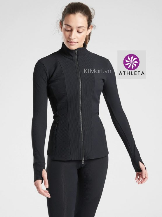 Athleta Shanti Ribbed Jacket 511435 Athleta size S