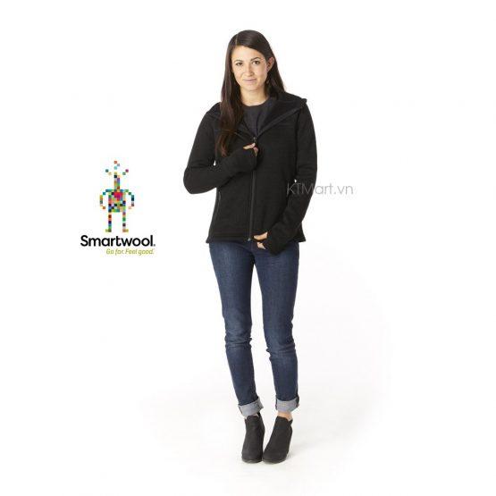 Smartwool Womens Hudson Trail Full Zip Fleece Sweater SW000312 Black Smartwool size M