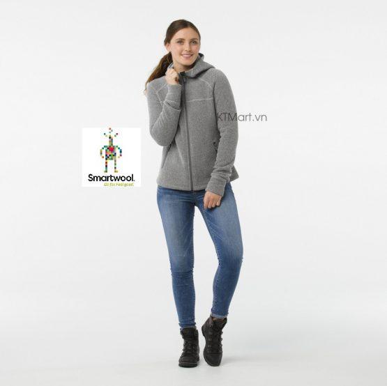 Smartwool Womens Hudson Trail Full Zip Fleece Sweater SW000312 Light Gray Smartwool size M