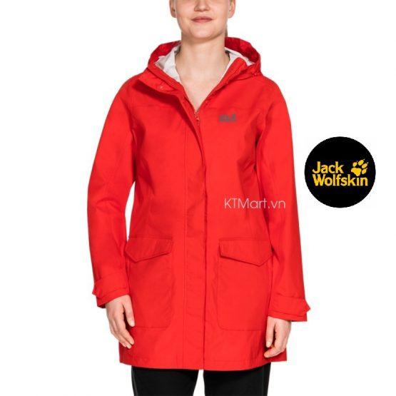 Jack Wolfskin Women's Crosstown Raincoat 1109001 Jack Wolfskin size L US