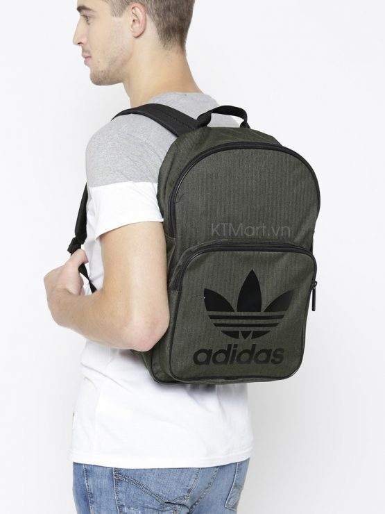 Adidas Unisex Olive Green Solid Casual Classic Backpack Adidas