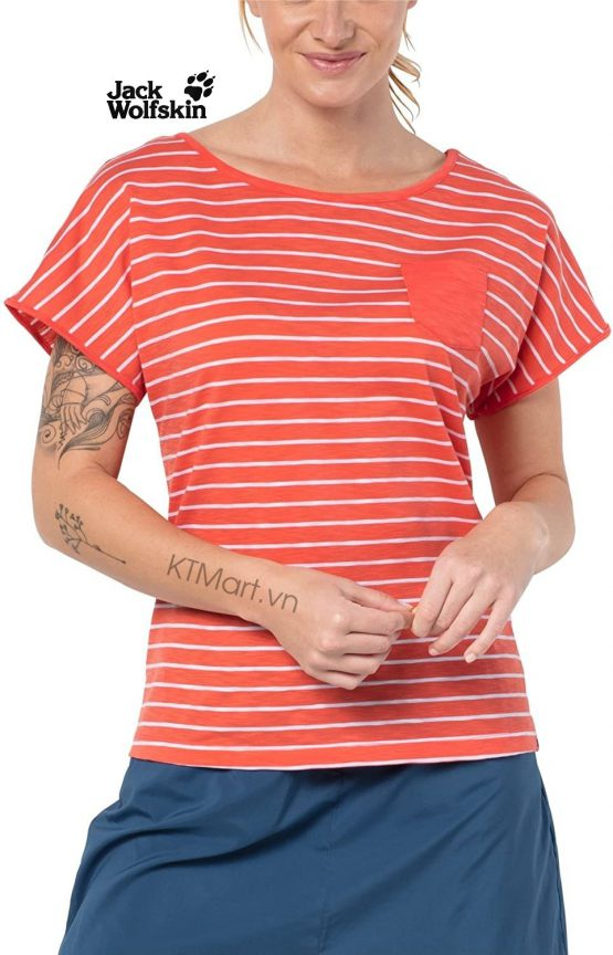 Jack Wolfskin Travel Striped T Women 1805691 Jack Wolfskin size M US