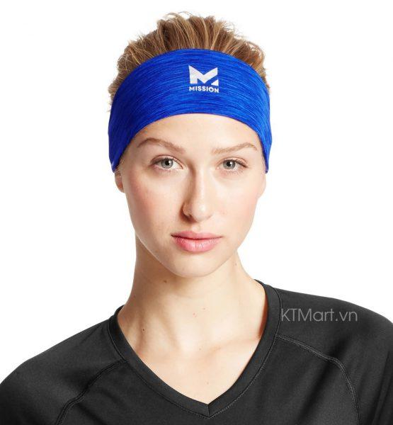 Băng đô chặn mồ hôi Mission VaporActive Cooling Lockdown Headband Mission