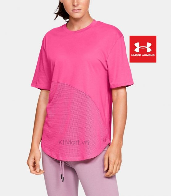 Áo thun Under Armour Women's Lighter Longer Mesh Crew Short Sleeve Shirt 1329145 Under Armour size S