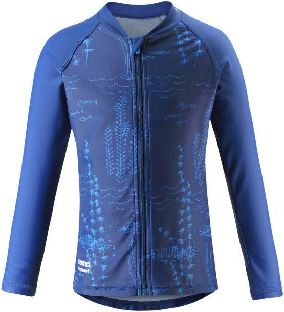 Bộ bơi chống nắng Children's UV T-shirt with long sleeves Reima 526292 Isla – navy blue size 122cm