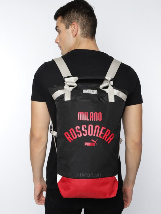 Puma Unisex Black Typography AC Milan 1899 Relax Backpack Tote Bag