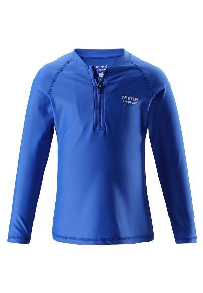 Áo bơi dài tay chống nắng Reima 526293 Toddlers' long-sleeve swim top Solomon blue  size 92, 110cm
