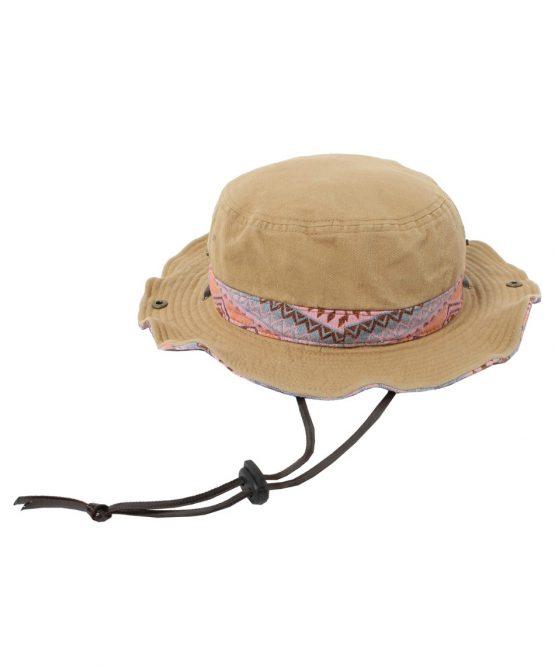 Mũ rộng vành VISION PEAKS Hat Twill Chimayo Pattern Adventure VP171201I01 BEG [ODCL]