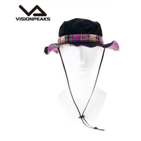 Mũ rộng vành Vision Peaks Hat Twill Chimayo Pattern Adventure VP171201H01 BLK F