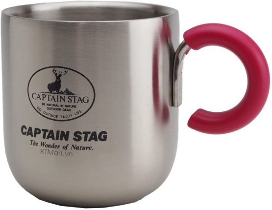 Cốc giữ nhiệt Captain Stag Peary Double Sten Mug 280ml Pink M-9133