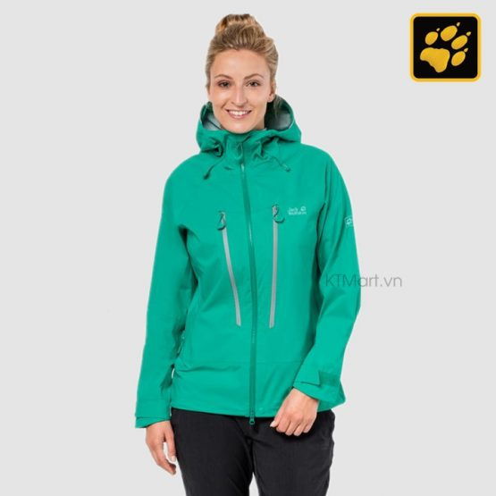 Jack Wolfskin Womens Exolight Mountain Waterproof Jackets Deep Mint 1110411 Jack Wolfskin size XL