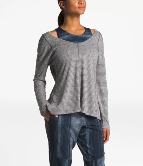 NF0A3P7U The North Face WOMEN'S BEYOND THE WALL NATURAL FIBER LONG-SLEEVE size M
