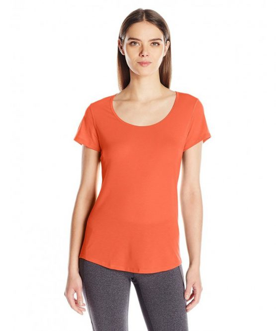 Lucy Women's Short Sleeve Workout Tee – Wild Coral – CW12O1BB3VK size XL