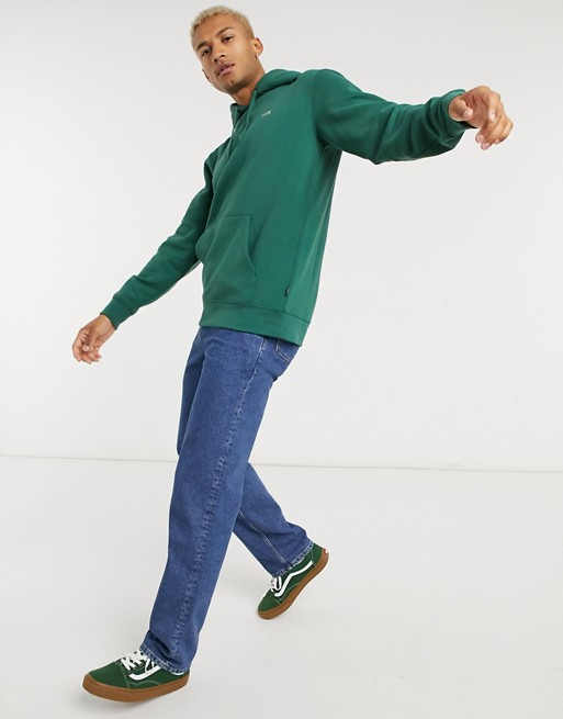 Áo nỉ Vans Basic Small Logo Fleece Hoodie in Green size S