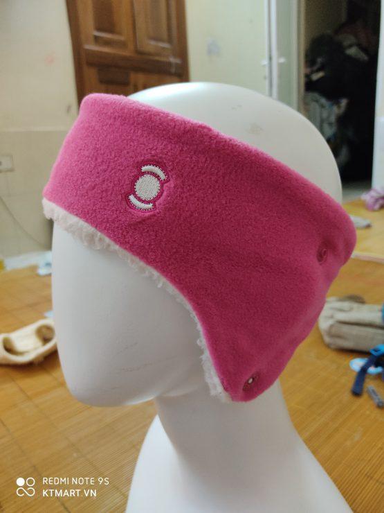 W. Angle Fleece Winter Headband in Pink Color