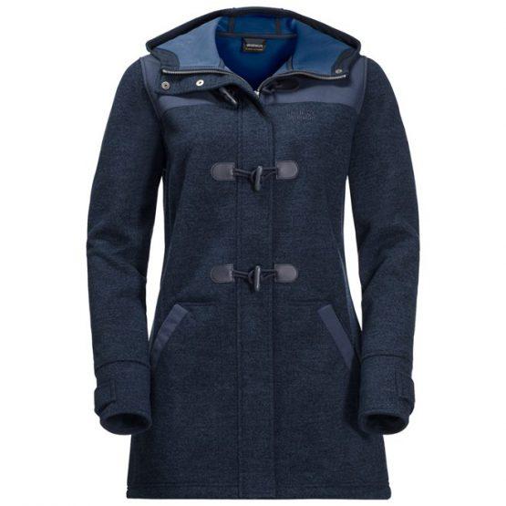 Áo khoác JACK WOLFSKIN WOMENS 1705792  EDMONTON FLEECE COAT – MIDNIGHT BLUE size S