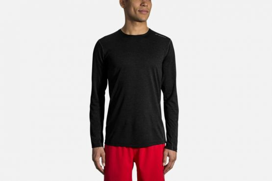 Áo chạy dài tay Brooks Running Men's Ghost Long Sleeve Top Black 211132 size XS, XL