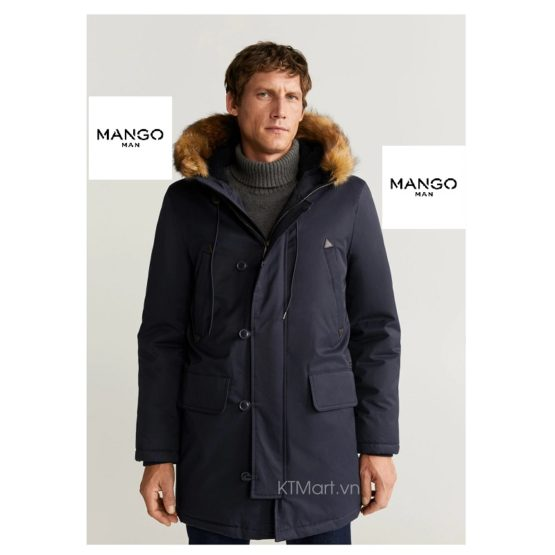 Mango Hooded Waterproof Quilted Parka 63187654 Mango Man size S, M, L