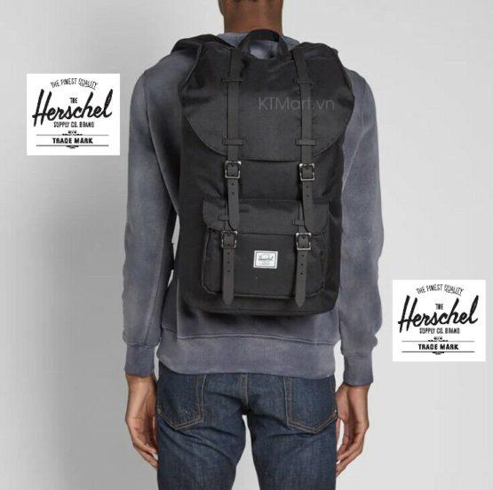 Balo sinh viên Herschel Little America Backpack Bag 23.5L Black Rubber