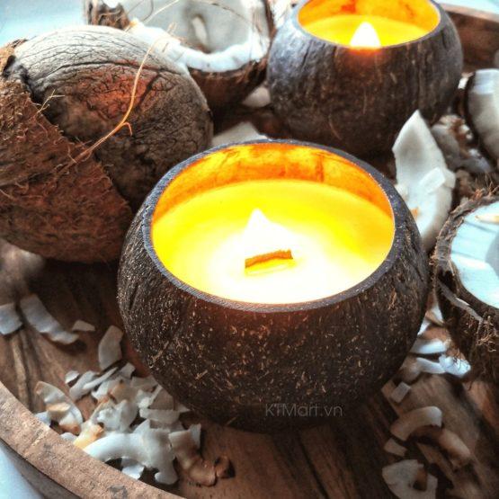 Nến thơm xuất khẩu Coconut Bowls Coconut Soy Candles 100% Biodegradable