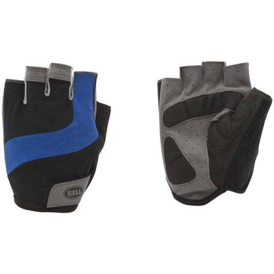 Găng tay đạp xe, tập Gym Bell Sports Ramble 500 Half-Finger Cycling Gloves, Fits Small-Medium, Black and Blue