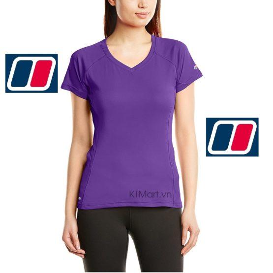 Berghaus Women's Short Sleeve V Neck Tech T-Shirt 4-21248 Berghaus size M US