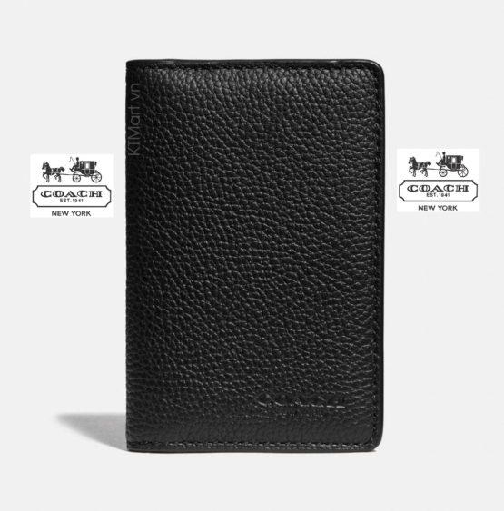 Ví da Coach Card Wallet With Signature Canvas Blocking 76313 Coach