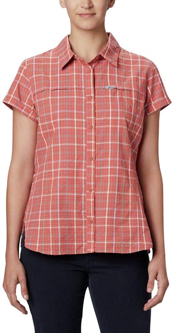 Áo sơ mi chống nắng có túi Columbia 1888241 Women's Silver Ridge™ Novelty Short Sleeve Shirt L