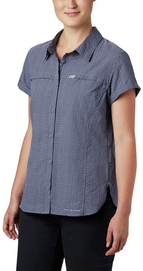 Áo sơ mi chống nắng có túi Columbia 1888241 Women's Silver Ridge™ Novelty Short Sleeve Shirt XL