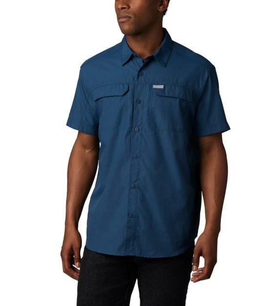 Columbia Silver Ridge™2.0 Outdoor Men's Short Sleeve Shirt AO0647 Petrol Blue size M