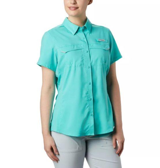 Columbia Women 's Lo Drag Short Sleeve Shirt-FL1023 Size L