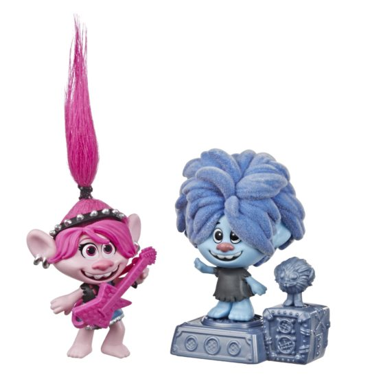 Hasbro DreamWorks Trolls World Tour Rock City with 2 Figures and Base, Accessories