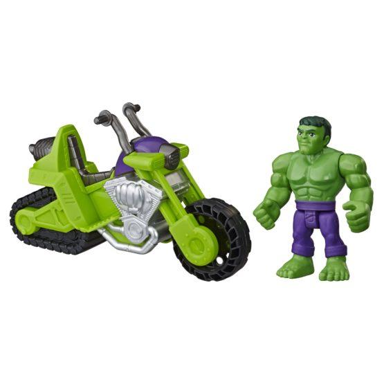 Hasbro Playskool Heroes Marvel Super Hero Adventures Hulk Smash Tank, 5-Inch Figure and Motorcycle Set