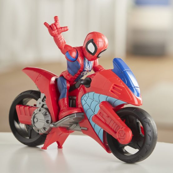 Marvel Playskool Heroes Super Hero Adventures Spider-Man Swingin' Speeder Set