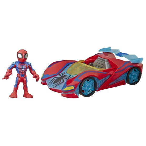 Hasbro Playskool Heroes Marvel Super Hero Adventures Spider-Man Web Racer Figure and Vehicle