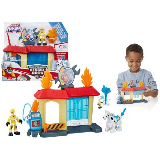 Bộ đồ chơi cứu hộ Hasbro B4964  Playskool Heroes Transformers Rescue Bots – Griffin Rock Garage Playset with 2 Figures