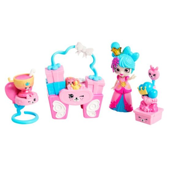 Shopkins Happy Places Small Doll Home Décor Playset, 1-Pack Squirrel Palace Party