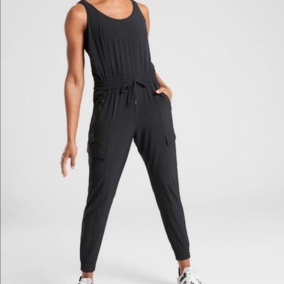 Athleta 531188 Unbound Jumpsuit Black size S