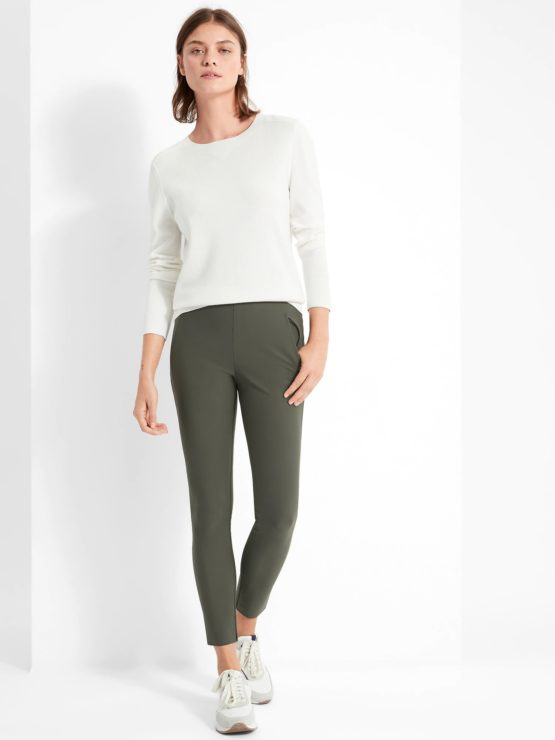 Banana Republic 668795 High-Rise Skinny-Fit Luxe Sculpt Pant – Dusty Olive Green size 00P, 0, 2, 4