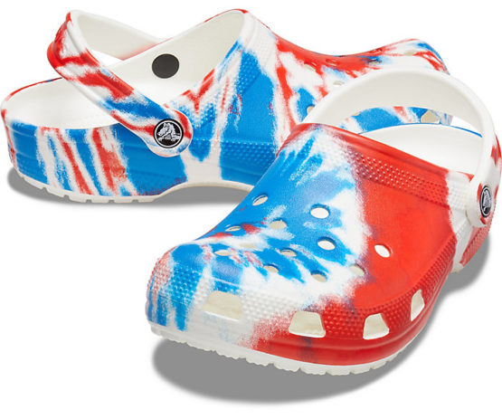 Crocs Men's and Women's Classic Tie Dye Clog – Comfortable Slip On Water Shoes size M4,5,7,8