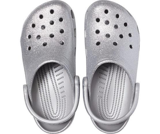 Crocs 205942 Classic Glitter Clog size M7