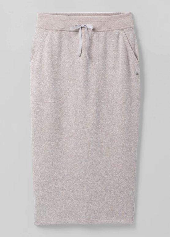 Prana w31213010 Cozy Up Midi Skirt Oatmeal Heather size XS