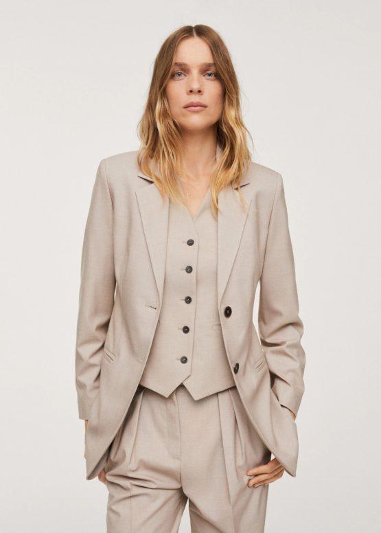 Mango 17054380 Patterned suit blazer size S US