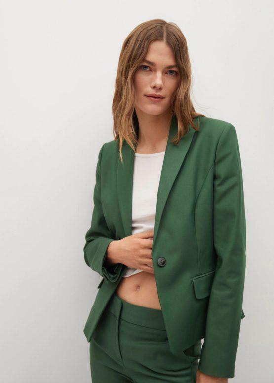 Mango 17080145 Structured suit blazer size S