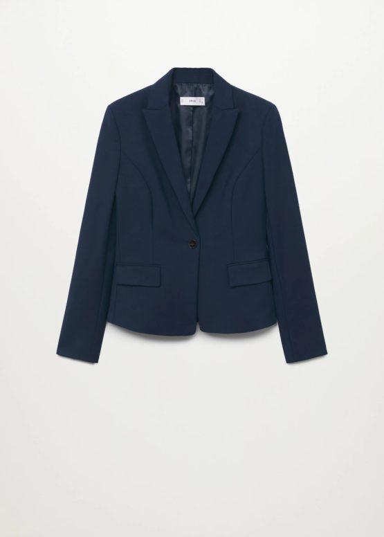 Mango 17080145 Structured suit blazer size S Dark Navy